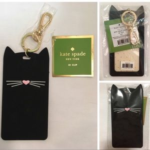 🆕KATE SPADE ♠️-CAT ID CLIP / LUGGAGE TAG KEYCHAIN